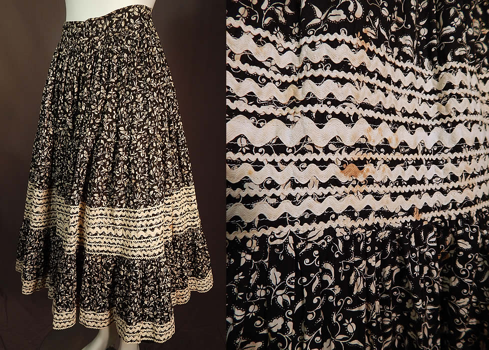 Vintage Justin's Prewitt New Mexico Fiesta Patio Squaw Dress Circle Skirt & Top