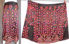 Vintage Palestinian Colorful Cross Stitch Embroidery Ethnic Bedouin Boho Skirt