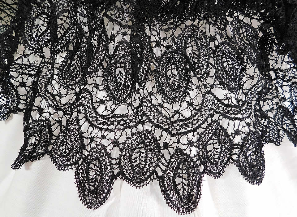 Victorian Antique Black Lace Dolman Mantle Pelerine Shawl Cloak Cape
