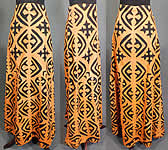 Vintage Antique Hawaiian Applique Quilt Cutout Fabric Boho Hippie Maxi Skirt