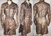 1930s Art Deco Gold Lame Tunic Top Dress Coat Jacket