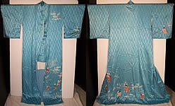 Vtg Japanese Geisha Silk Screen Childrens Day Kimono