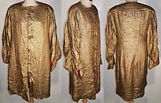 Art Deco Gold Lamé Red Dot Evening Coat Jacket