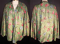 Antique Botanical Green Chintz Roller Print Shirt Jacket