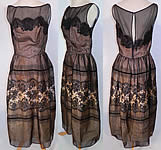 Vintage Semont New York Black Chantilly Lace Evening Gown Long Dress