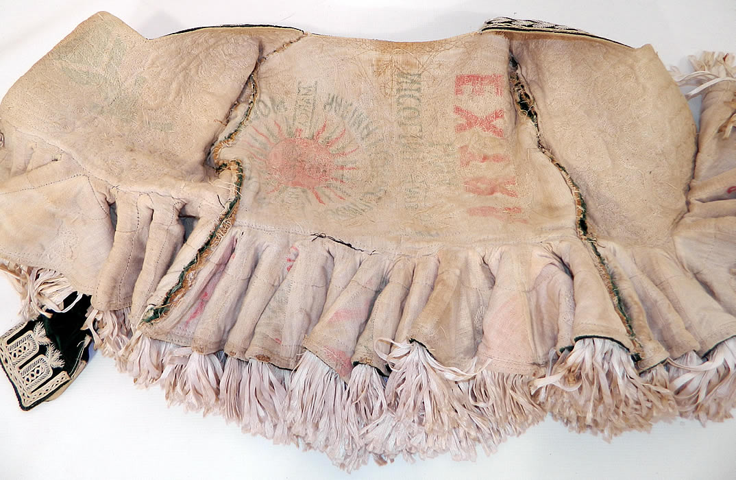 Antique Spanish Conquistador Bolivian Milkmaids Folk Costume Velvet Beaded JacketAntique Spanish Conquistador Bolivian Milkmaids Folk Costume Velvet Beaded Jacket. This style of jacket were worn by the women of the Bolivian Altipano near the Andes of South America and are reminiscent of Spanish Conquistadors costumes.