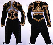 Vintage Spanish Matador Bullfighter Bolero Jacket Knickers Waist Cincher Costume