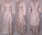 Vintage Vogue Couturier Design Silver Lamé Brocade Sheath Dress Evening Gown