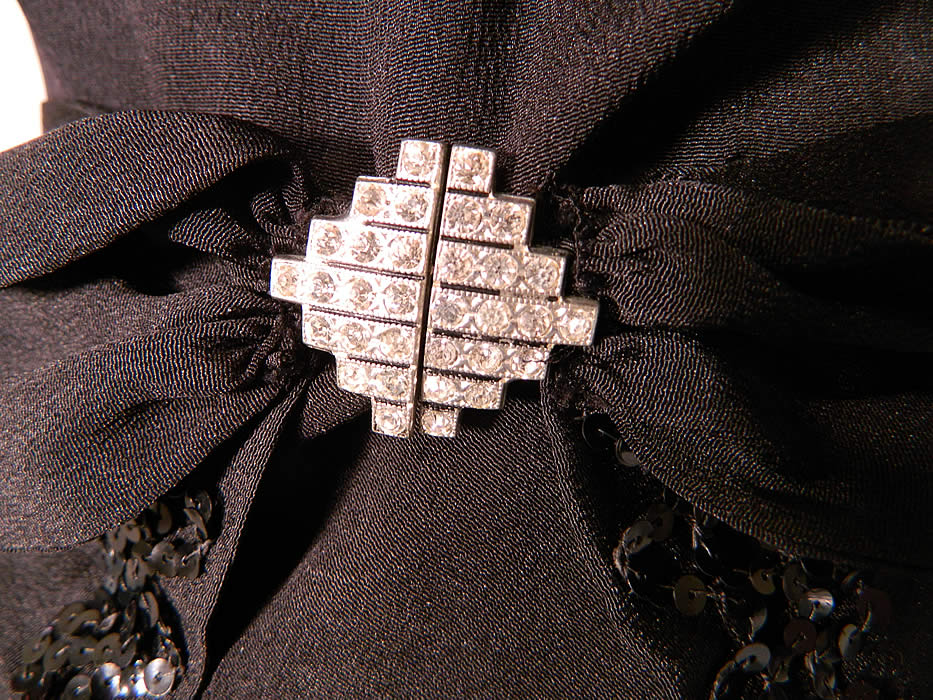 Vintage Black Silk Crepe Belted Peplum Skirt Bolero Jacket