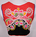 Antique Vintage Portugal Portuguese Folk Costume Embroidered Wool Vest Top