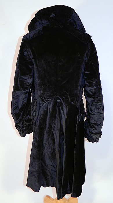 Edwardian Black Velvet Womens Winter Equestrian Tailored Tail Coat Riding Jacket