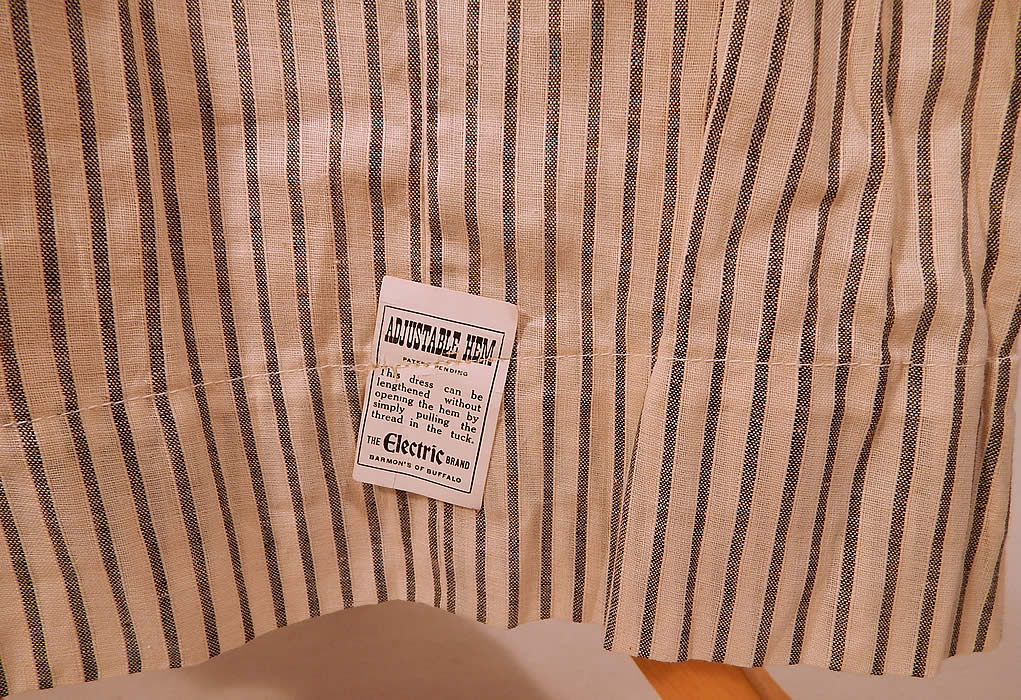Edwardian Electric Brand Black & White Striped Cotton Workwear House Dress NWT