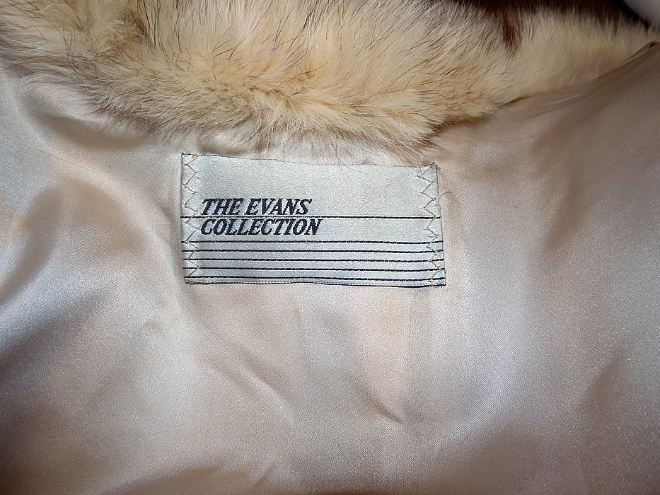 Vintage The Evans Collection Amber Fox Fur Shawl Collar Winter Coat Jacket