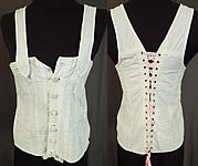 Victorian White Cotton Twill Stays Health Corset Camisole Top Vintage Underwear