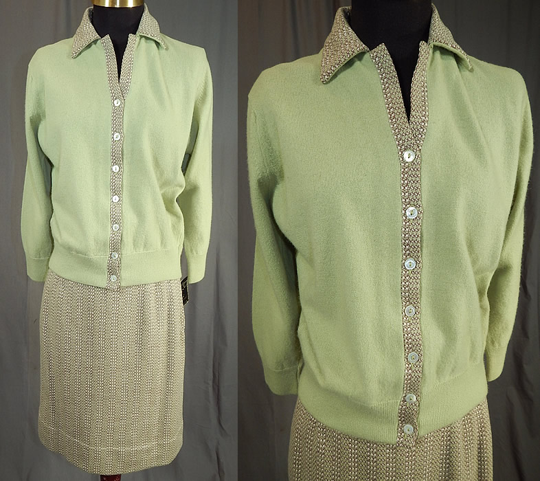 Vintage Bryant of Scotland Cashmere Cardigan Sweater Suit Tweed Skirt NWTVintage Bryant of Scotland Cashmere Cardigan Sweater Suit Tweed Skirt NWT