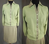 Vintage Bryant of Scotland Cashmere Cardigan Sweater Suit Tweed Skirt NWT