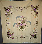Antique Chinese Vietnamese Saigon French Butterfly Floral Silk Embroidered Tapestry