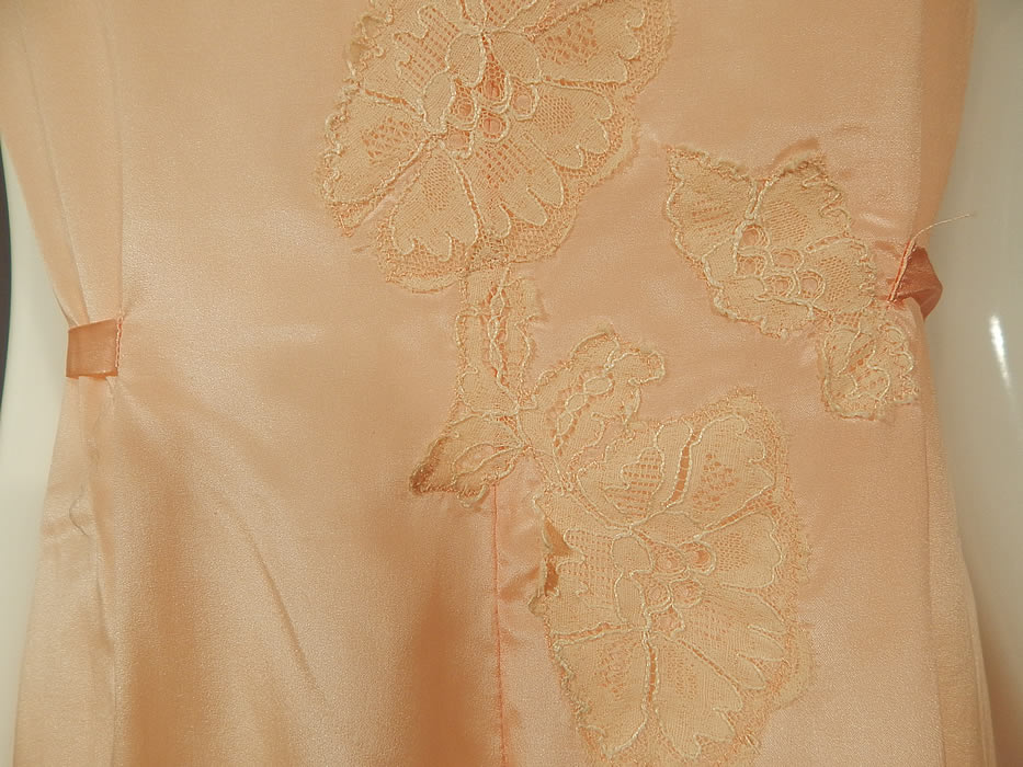 Vintage Love Joy Twin Weaves Pink Silk Lace Lingerie Palazzo Pant Pajama Jumpsuit