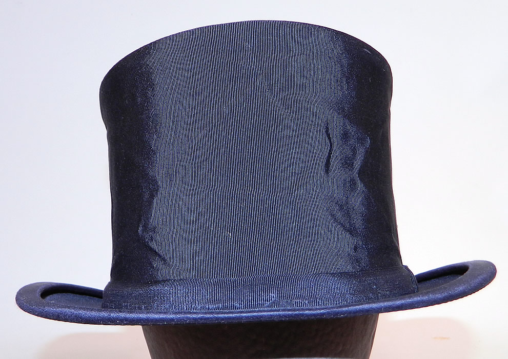 Vintage Bamberger's Men's Store Newark Black Silk Collapsible Opera Top Hat
