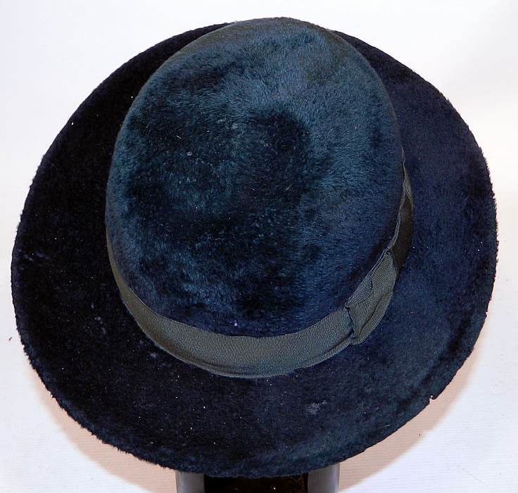 Edwardian Vintage Matteawan Mfg. Co. Green Felted Wool Derby Bowler Hat