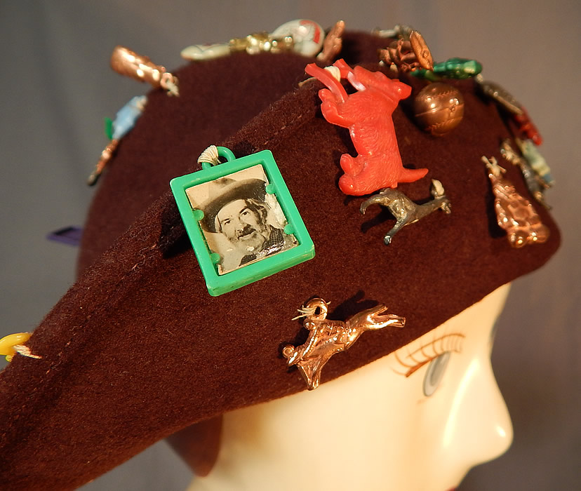 Vintage Cracker Jack Prize Toy Charms Pep Pins Roy Rogers Jane Russell Hat