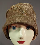 Vintage Art Deco Gold Lamé Lame Embroidery Sequin Beaded Flapper Cloche Hat