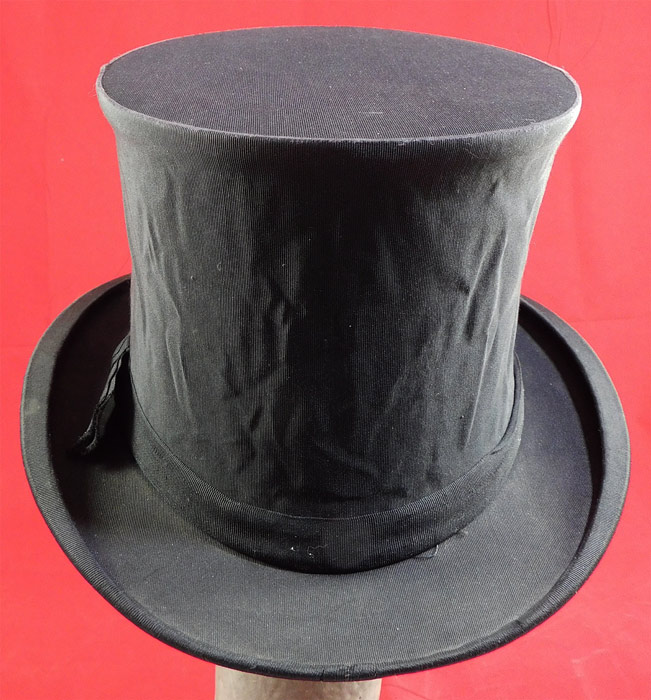 Vintage Finchley Establishment Fifth Ave NY Men's Black Silk Collapsible Opera Top Hat
