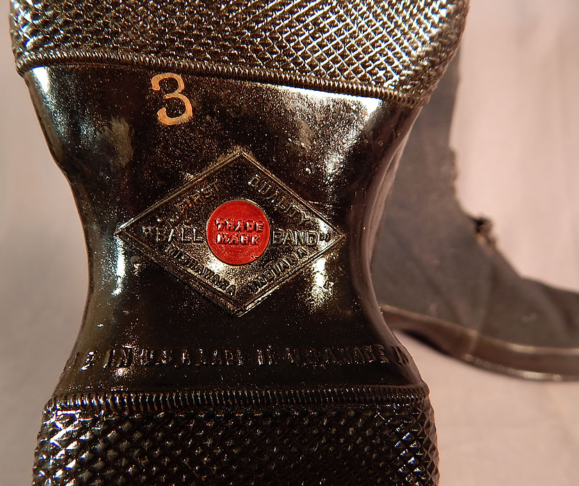 Vintage Mishawaka Woolen Red Ball Band Rubber Rain Boots Galoshes