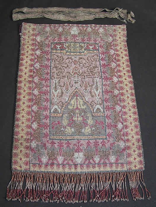 Large Beaded Oriental Rug Purse