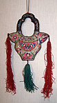 Antique Chinese Embroidered Purse Frame Fob