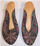 Ottoman Turkish Metal Embroidery Slipper Shoes
