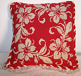 Victorian Beaded Needlepoint Pincushion Pillow