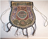 Ottoman Turkish Tugra Gold Embroidered Reticule Purse