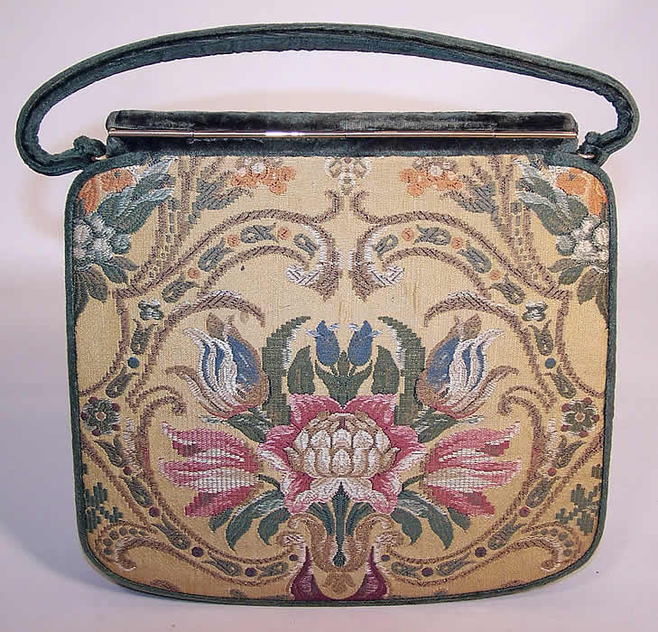 Vintage Nettie Rosenstein Silk Brocade Tapestry Velvet Handbag Purse