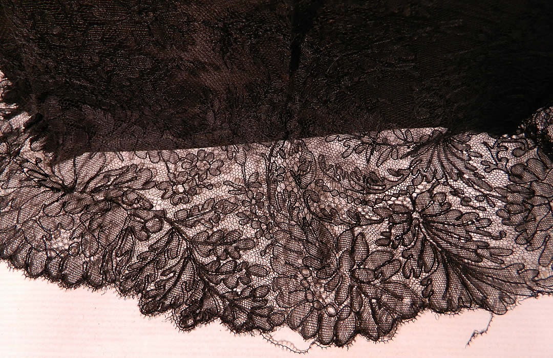 Edwardian Black Chantilly Lace Carved Ebony Handle  Parasol. This is truly a rare and wonderful parasol!