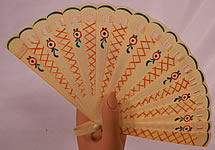 1920s Vintage Art Deco Hand Painted Celluloid Small Brise Dance Flapper Fan