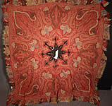 Victorian Antique Kashmir Hand Woven Wool Embroidered Pieced Paisley Shawl