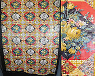 Vintage Thomas Nast Dickens Pickwick Papers Novelty Print Chintz Fabric Yardage