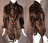 Victorian Womens Plush Velvet Beaver Fur Winter Dolman Mantle Cape Coat