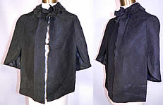 Victorian Black Chantilly Lace Mourning Mantle Cape Dolman Capelet