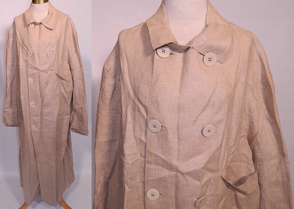 Edwardian Men S Linen Double Breasted Travel Motor Driving