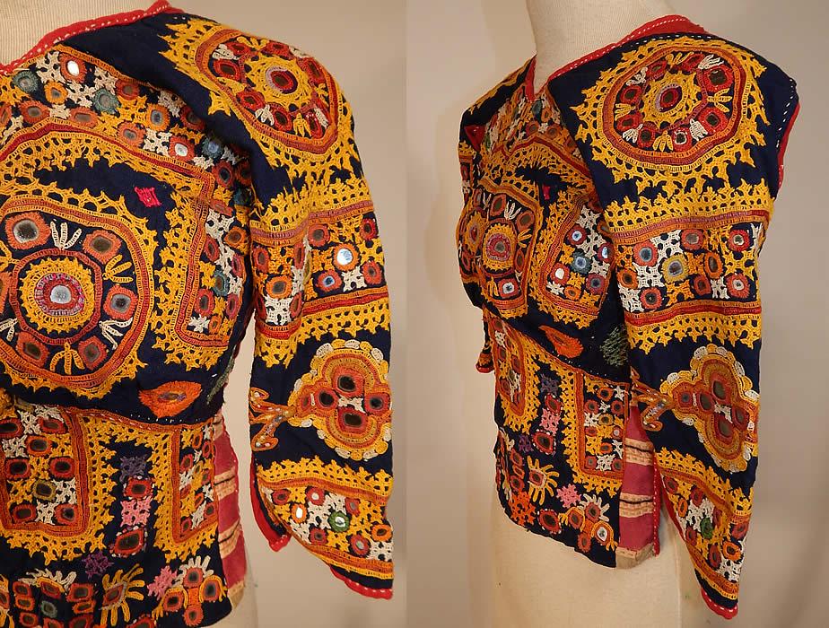 Vintage Antique Indian Gujarati Kutch Work Embroidered