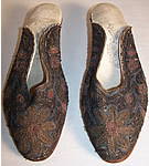 Ottoman Turkish Gold Embroidey Slippers Shoes