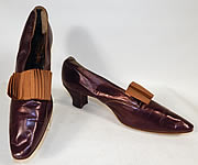 Edwardian Vintage Peter Robinson London Label Iridescent Aubergine Leather Shoes