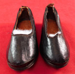 Victorian Black Leather Lancashire English Workwear Childrens Clogs Shoes